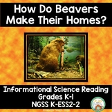 Beaver Homes Science Informational Reading Kindergarten NGSS