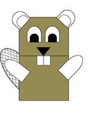 Beaver paper bag puppet craft