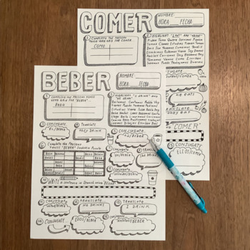 Estar Conjugation Practice Worksheet by Sra Cruz | TpT