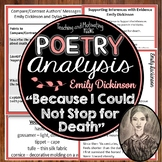 """Emily Dickinson """"Because I Could Not Stop for Death"""" Close Reading + Think Aloud"""