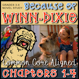 Because Of Winn-Dixie / Chapters 1-4 / Novel Study Answer Keys / 24 Pages