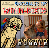 Because Of Winn-Dixie Activities Distance Learning! SALE!