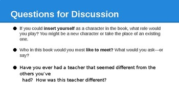 Because of Mr. Terupt Bookclub discussion