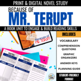 Because of Mr. Terupt Novel Study Unit