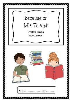 Because of Mr Terupt Higher Order Thinking Novel Study Questions