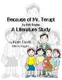 Because of Mr. Terupt Literature Study