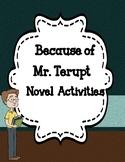 Because of Mr. Terupt  Novel Activities