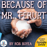 Because of Mr. Terupt Novel Study Book Unit Distance Learning