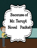 Because of Mr. Terupt  Novel Study - Comprehension and Vocabulary