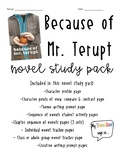 Because of Mr. Terupt- Novel Study, literature circle, or
