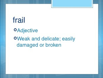 Because of Mr. Terupt Part 2 Vocabulary PowerPoint