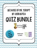 Because of Mr. Terupt Quiz Bundle