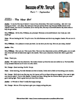 Because of Mr. Terupt Readers Theater Script September