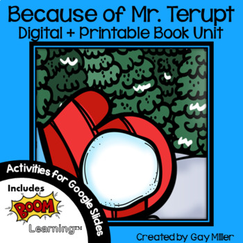 Because of Mr. Terupt [Rob Buyea] Book Unit