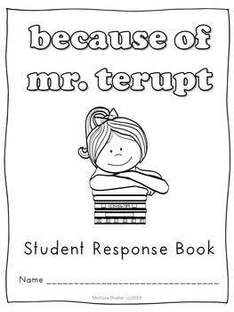 Because of Mr. Terupt Student Novel Guide