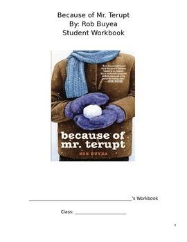 Because of Mr. Terupt Workbook