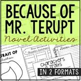 BECAUSE OF MR. TERUPT Novel Study Unit Activities | DISTAN