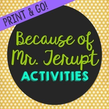 Because of Mr. Terupt by Rob Buyea Novel Unit Study Activi