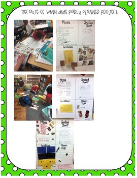 Because of WInn Dixie Cross Curricular Party Planner Project