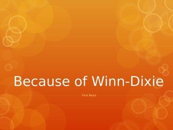Because of Winn-Dixie (1st Read) PowerPoint - 4th Grade Journeys