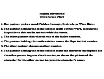 Because of Winn Dixie Novel Study (Scoot Unit Review Game)