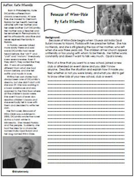 Because of Winn-Dixie Novel Study & Enrichment Project Menu