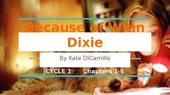 Because of Winn Dixie 5 Day Lesson Slideshow (Ch 1-6) pptx