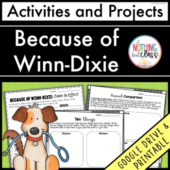 Because of Winn-Dixie: Activities and Projects 20% off for 48 hours