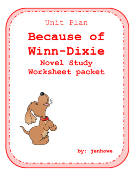 Because of Winn-Dixie Activity and Assessment Pack