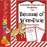 Because of Winn Dixie Assessment, Questions, and Vocabulary