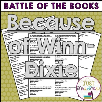 Because of Winn-Dixie Battle of the Books Trivia Questions