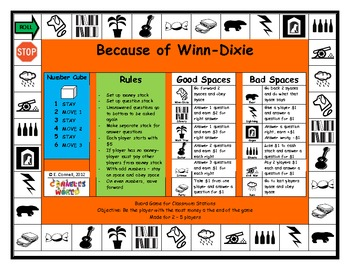 Because of Winn Dixie Board Game