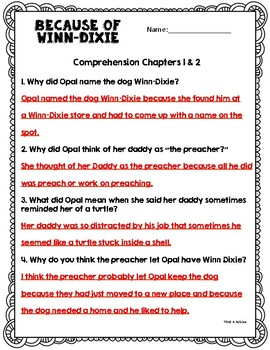 Because of Winn-Dixie Book Study Bundle [48 Pages!]