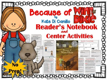 Because of Winn Dixie {Book Study and Center Activities}