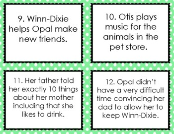 Because of Winn Dixie Book vs. Movie Compare and Contrast Sort