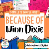 Because of Winn-Dixie Novel Unit [Google Classroom Compatible]