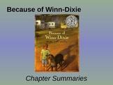Because of Winn-Dixie - Chapter Summaries