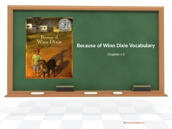 Because of Winn Dixie Chapters 1-5 Vocabulary PowerPoint