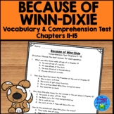 Because of Winn Dixie Test - Chapters 11-15