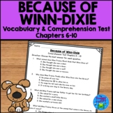 Because of Winn Dixie Test - Chapters 6-10