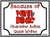 Because of Winn-Dixie Character Action Quick Writes