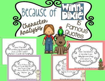 Because of Winn-Dixie: Character Analysis with Quotes