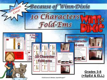 Because of Winn-Dixie Character Analysis Fold-Ems