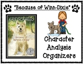Because of Winn-Dixie Character Traits Graphic Organizers