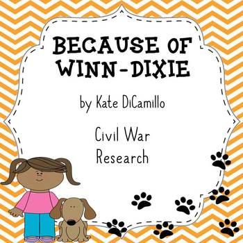 Because of Winn Dixie Civil War Research