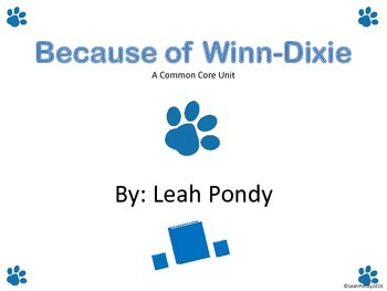 Because of Winn-Dixie Common Core Unit