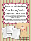Because of Winn Dixie Compare & Contrast Close Reading Text Lift