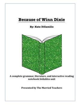Because of Winn Dixie Complete Literature, Grammar, & Inte