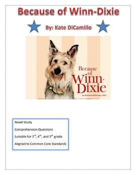 Because of Winn-Dixie Comprehension