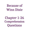 Because of Winn Dixie Comprehension Questions